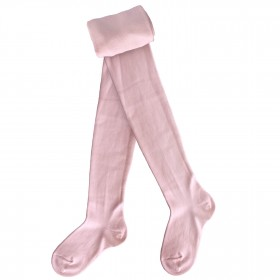 Collants enfant coton - Rose