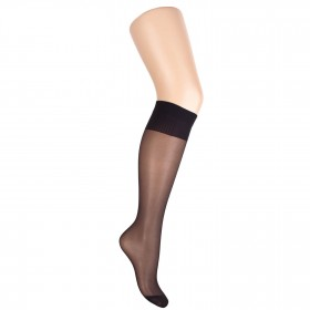 Fine black mat knee-high socks - Matite 20