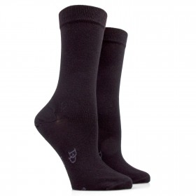 Black women socks in egyptian cotton